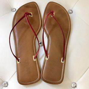 Ralph Lauren Genuine Leather Thong Sandals 12